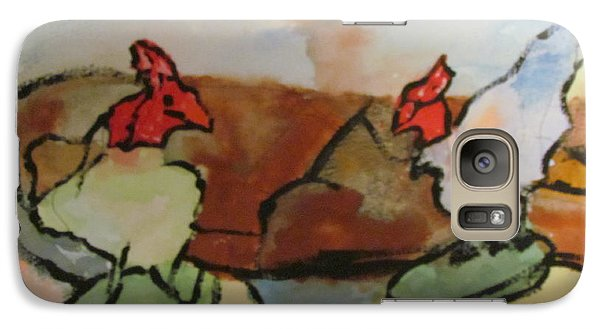 Galaxy Case featuring the painting The Roosters by Shea Holliman