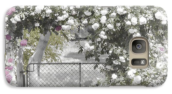 Galaxy Case featuring the photograph The Rose Arbor by Elaine Teague