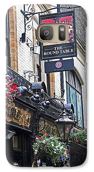 Galaxy Case featuring the photograph The Round Table Pub by Cheri Randolph