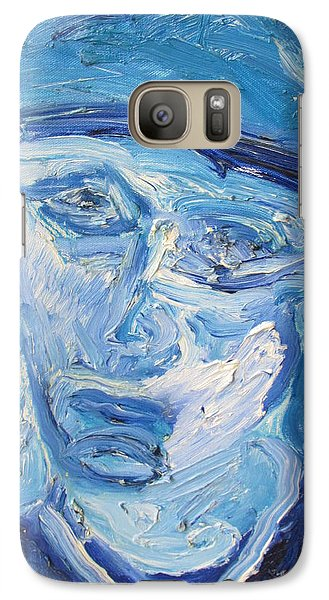 Galaxy Case featuring the painting The Sad Man by Shea Holliman