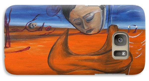Galaxy Case featuring the painting The Saharan Insomniac by Christophe Ennis