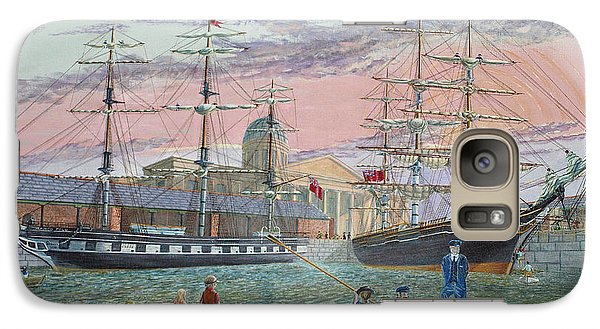 Galaxy Case featuring the painting The Scamps Of Canning Dock by Anthony Lyon