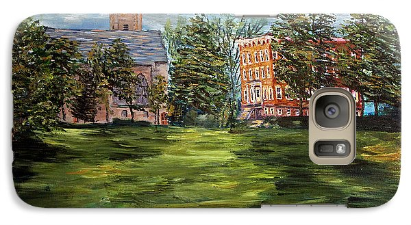 Galaxy Case featuring the painting The Scarlet And The Brown On A Cloudy Day In July by Denny Morreale
