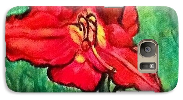 Galaxy Case featuring the painting The Scarlet Lily by Kimberlee Baxter