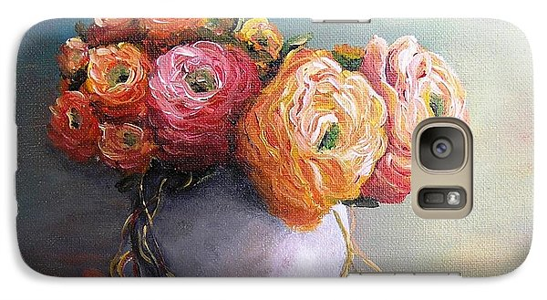 Galaxy Case featuring the painting The Scent Of Flowers by Vesna Martinjak