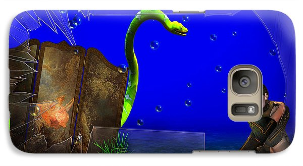 Galaxy Case featuring the digital art The Scent Of The Girl  by Liane Wright