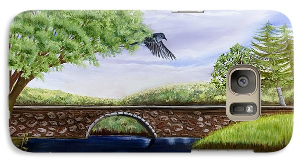 Galaxy Case featuring the painting The Schuykill River by Susan Culver