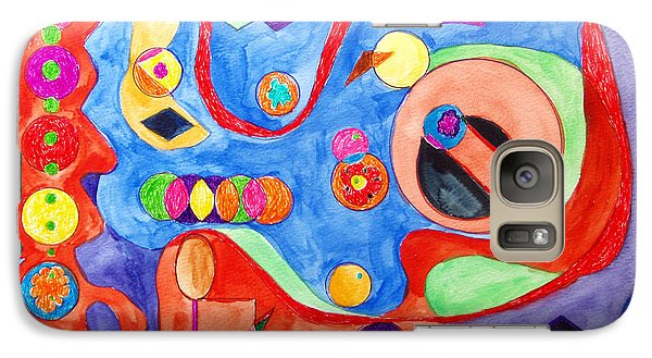 Galaxy Case featuring the painting The Science Of Shapes 1 by Esther Newman-Cohen