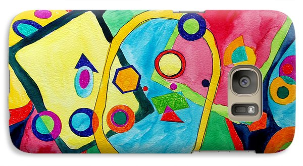 Galaxy Case featuring the painting The Science Of Shapes 2 by Esther Newman-Cohen