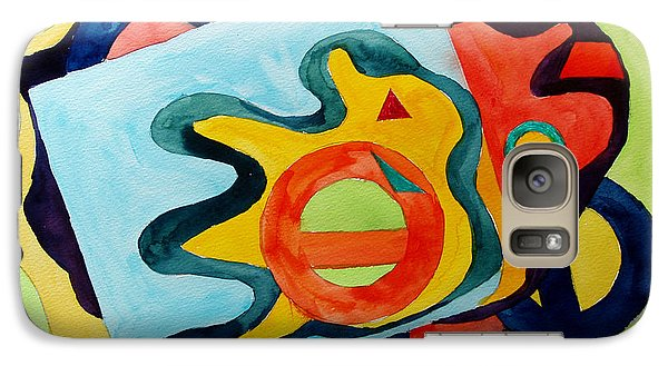 Galaxy Case featuring the painting The Science Of Shapes 3 by Esther Newman-Cohen