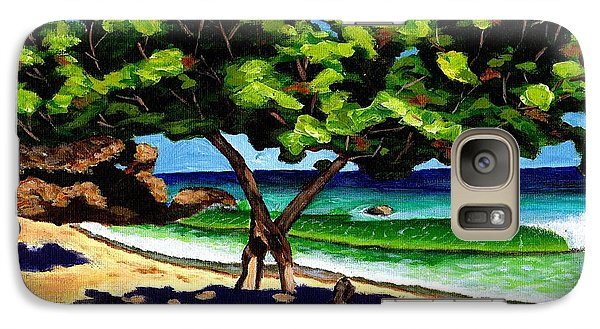 Galaxy Case featuring the painting The Sea-grape Tree by Laura Forde