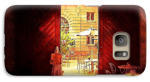 Galaxy Case featuring the photograph The Secret Courtyard  by Becky Lupe