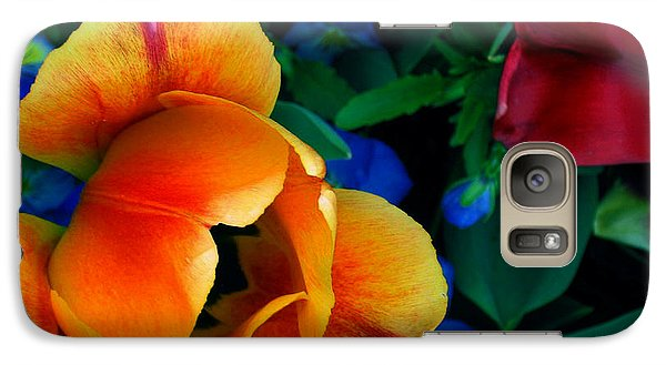 Galaxy Case featuring the photograph The Secret Life Of Tulips by Rory Sagner