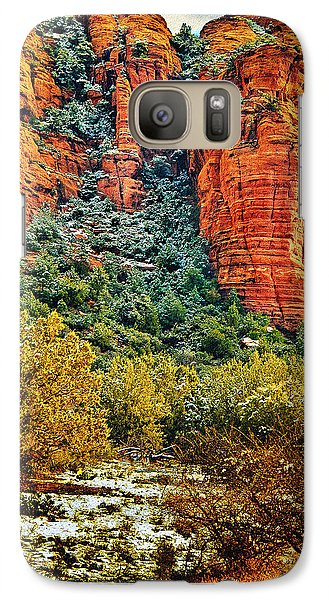 Galaxy Case featuring the photograph The Secret Mountain Wilderness In Sedona Back Country by Bob and Nadine Johnston