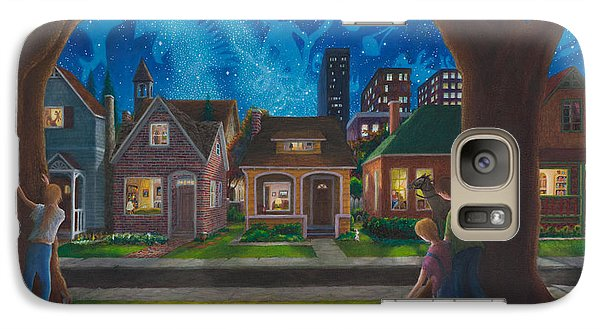 Galaxy Case featuring the painting The Seed The Price And The Conflict by Matt Konar