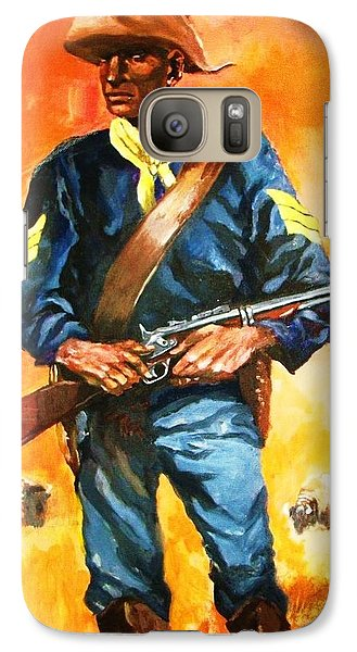 Galaxy Case featuring the painting The Sentry by Al Brown