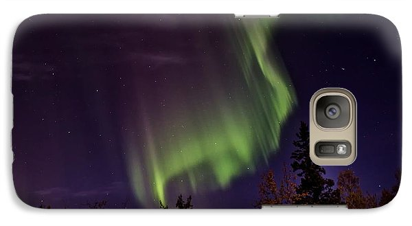 Galaxy Case featuring the photograph The September Aurora Fairbanks Alaska by Michael Rogers
