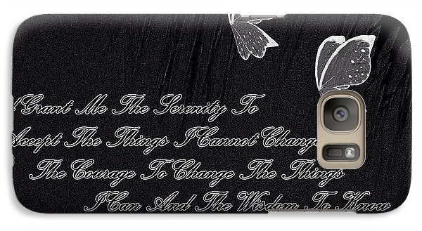 Galaxy Case featuring the digital art The Serenity Prayer by Sherri  Of Palm Springs
