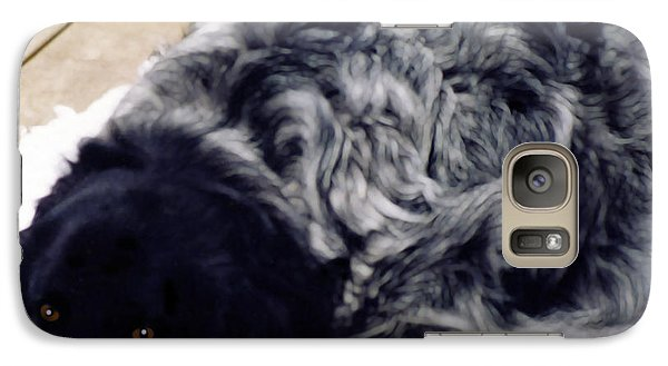 Galaxy Case featuring the photograph The Shaggy Dog Named Shaddy by Marian Cates