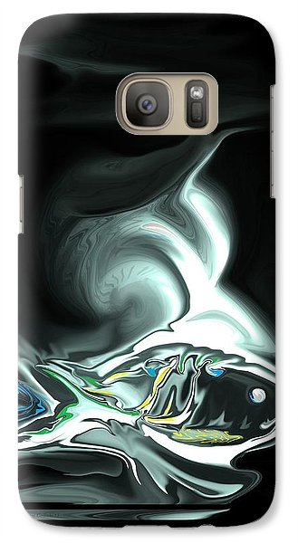 Galaxy Case featuring the digital art The Shark by Steve Godleski
