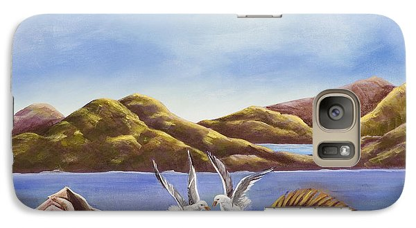 Galaxy Case featuring the painting The Shell The Fish The Sea by Susan Culver