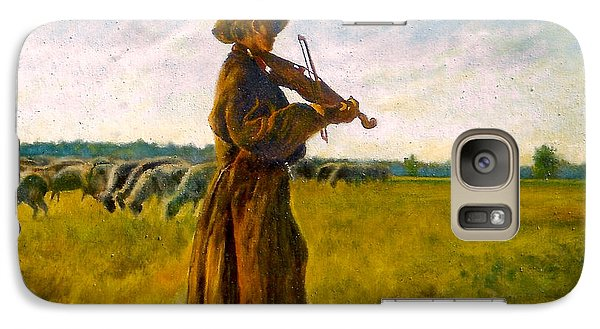 Galaxy Case featuring the painting The Shepherd by Henryk Gorecki