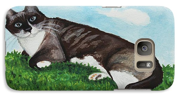 Galaxy Case featuring the painting The Siamese Cat by Elizabeth Robinette Tyndall