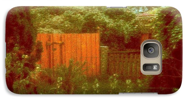 Galaxy Case featuring the mixed media The Side Yard by YoMamaBird Rhonda