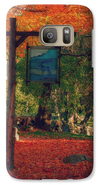 Galaxy Case featuring the photograph The Sign Of Fall Colors by Jeff Folger