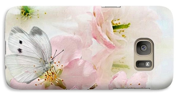Galaxy Case featuring the mixed media The Silent World Of A Butterfly by Morag Bates