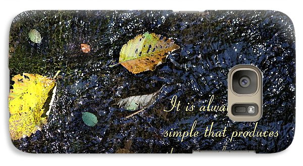 Galaxy Case featuring the photograph The Simple by Erica Hanel