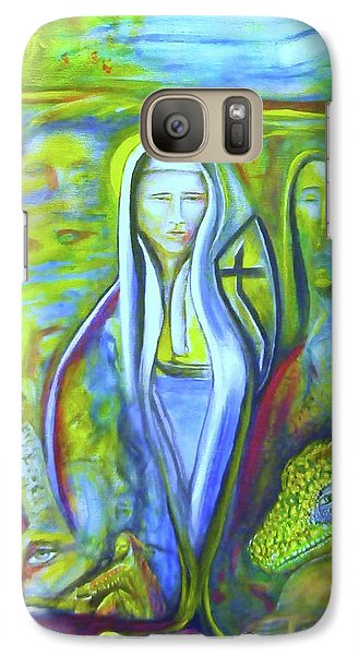 Galaxy Case featuring the painting The Sister by Kicking Bear  Productions