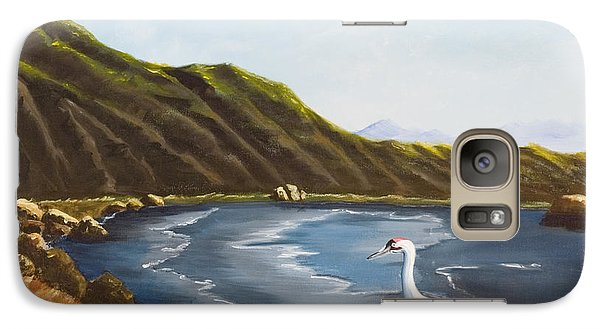 Galaxy Case featuring the painting The Sky The Sea The Shore And More by Susan Culver