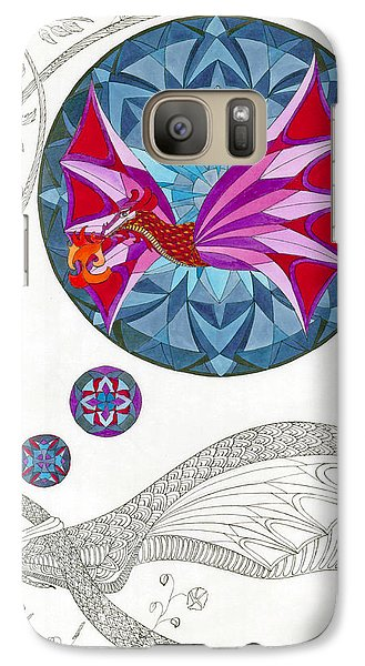 Galaxy Case featuring the drawing The Sleeping Dragon by Dianne Levy