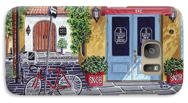 Galaxy Case featuring the painting The Snob Restaurant by Val Miller