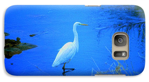 Galaxy Case featuring the photograph The Snowy White Egret by Tim Ernst