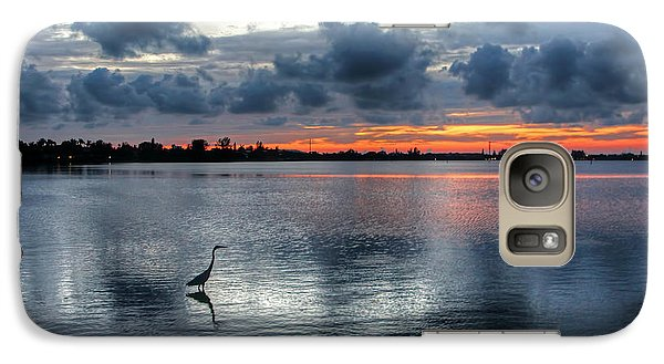 Galaxy Case featuring the photograph The Solitary Fisherman - Florida Sunset by HH Photography of Florida