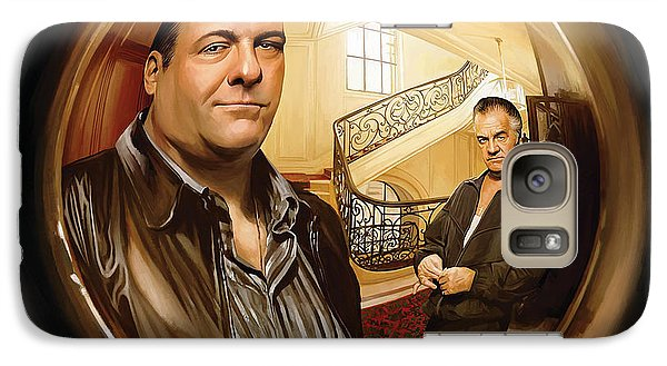 Galaxy Case featuring the painting The Sopranos  Artwork 1 by Sheraz A