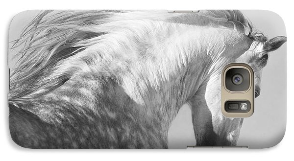 Horse Galaxy S7 Case - The Spanish Stallion Tosses His Head by Carol Walker