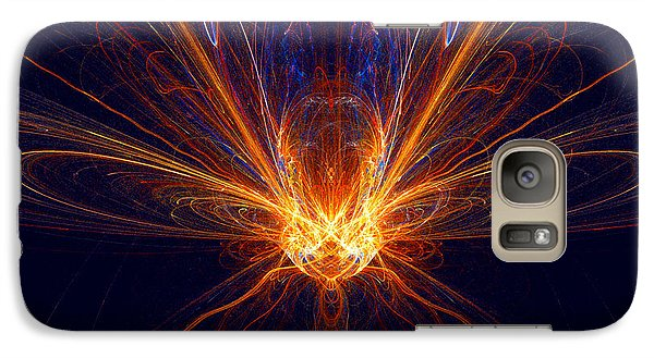 Galaxy Case featuring the digital art The Spectacular Digital Firefly by R Thomas Brass