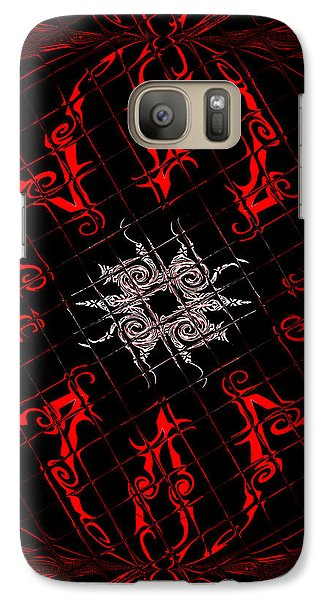 Galaxy Case featuring the painting The Spider's Web  by Roz Abellera Art