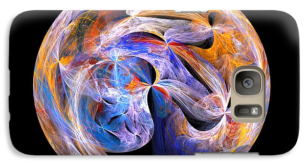 Galaxy Case featuring the digital art The Spirit At Creation by R Thomas Brass