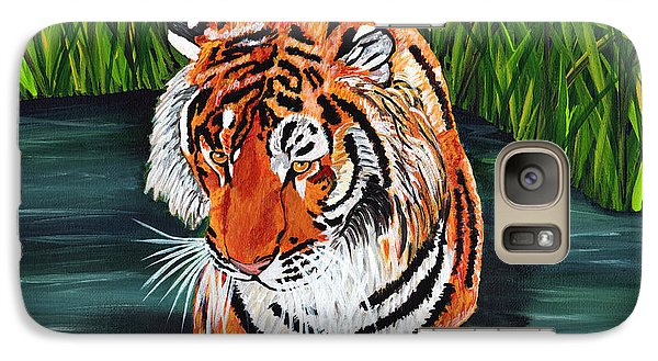 Galaxy Case featuring the painting The Stare by Laura Forde