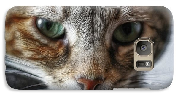 Galaxy Case featuring the digital art 00002 The Stare by Photographic Art by Russel Ray Photos
