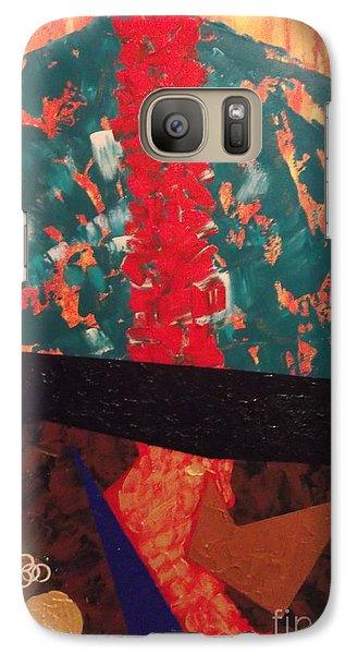 Galaxy Case featuring the painting The Stem Of You by Theresa Kennedy DuPay