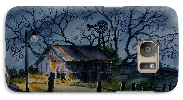Galaxy Case featuring the painting The Still Of The Night by Ron Stephens