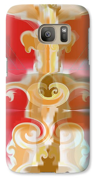 Galaxy Case featuring the digital art The Storm Tree by Kevin McLaughlin
