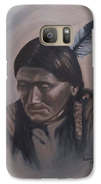 Galaxy Case featuring the painting The Story Teller by Michael  TMAD Finney