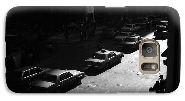Galaxy Case featuring the photograph The Street by Steven Macanka