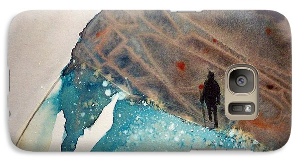 Galaxy Case featuring the painting The Summit by Ed  Heaton
